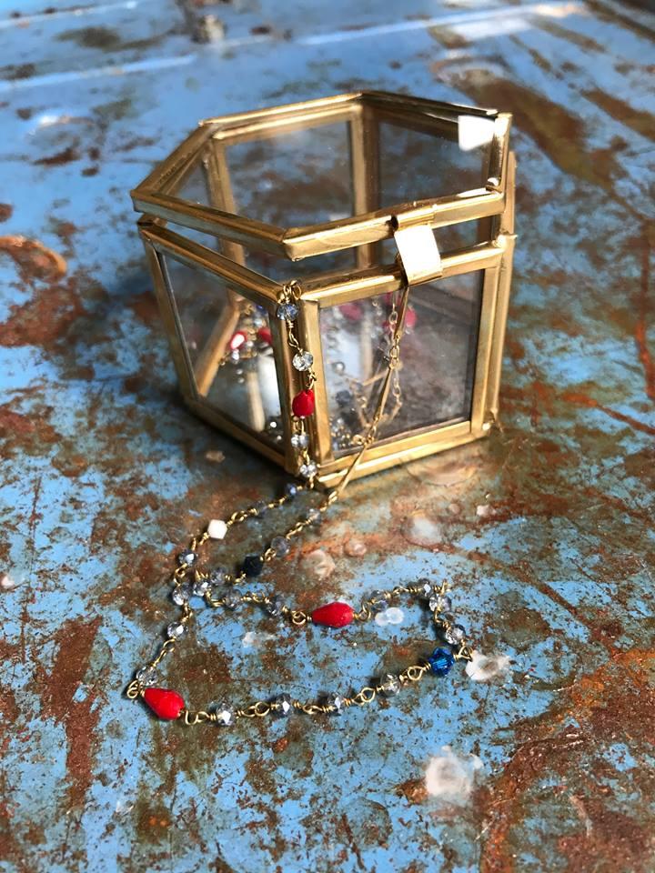 Collana handmade stile rosario